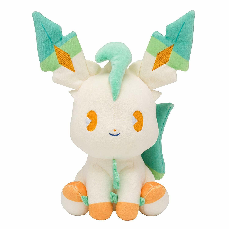 Pokemon Centro Original Peluche Mezcla Au Lait Leafeon Japón Oficial