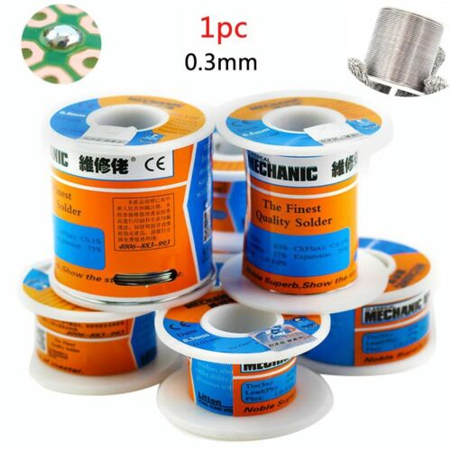 63//37 Rosin Core Solder Tin Lead Flux 2/% Soldering Iron Wire 0.3-0.6mm 60g