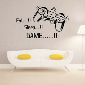 Image Is Loading Eat Sleep Game Vinyl Wall Art Stickers Gamer