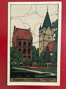 AK-1634-Westerstede-Die-Kirche-1928