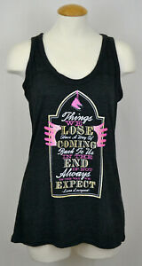 Harry Potter Tank Top T-shirt Luna Lovegood Quote Women's Graphic Tee Gray NWT