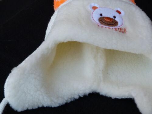 Winter Baby Mütze-Schal-Fäustlinge Set Erstlingsmütze Strick Plüsch gefüttert