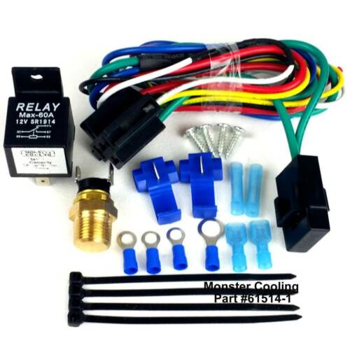 Works on Single or Dual Fans Pre Set Temperature Mopar Fan Relay Wiring Kit