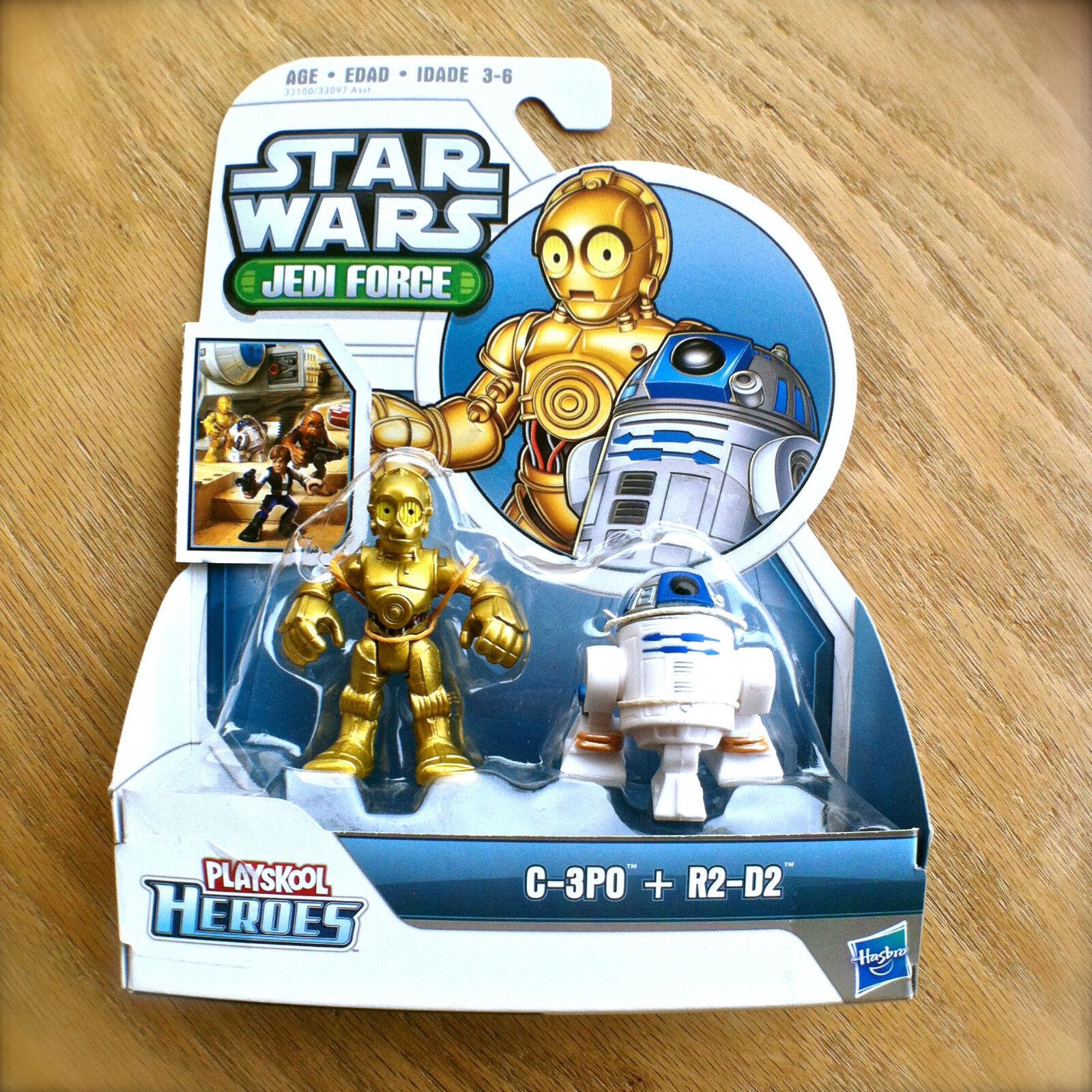 STAR WARS Jedi Force C-3PO & R2-D2 Playskool Heroes HASBRO Droid 2pk R2D2 C3P0