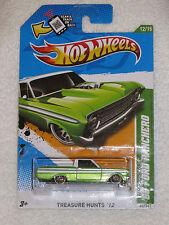 NEW 2012 Mattel Hot Wheels Treasure Hunts #62 /247 Green '65 Ford Ranchero 12/15