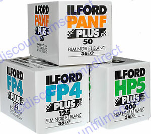 ILFORD-35mm-36-exposure-B-amp-W-3-FILM-TRIAL-PACK-CHEAP-FILM-by-1st-CLASS-POST