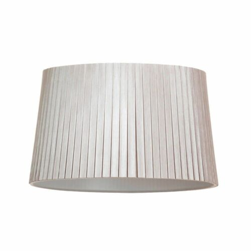 Mocha Brown Easy Fit Light Large Pleated Cylinder Lamp Shade Lampshade Litecraft