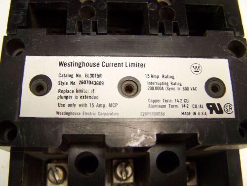 * Westinghouse Breaker  MCP03150R 15A w//  Limiter  E-002