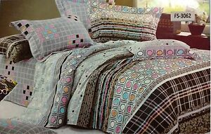 Designer-100-cotton-Flat-Bed-sheets-king-size-with-pillow-case-3062