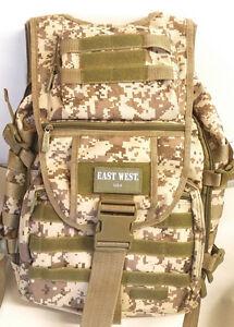Large Backpack TAN ACU Hunting Day Pack TACTICAL  Bag Laptop Pocket  Rucksack