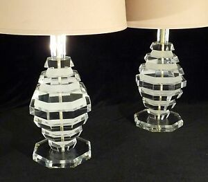 Image Is Loading PR HOLLYWOOD REGENCY MID CENTURY STACKED ACRYLIC LUCITE