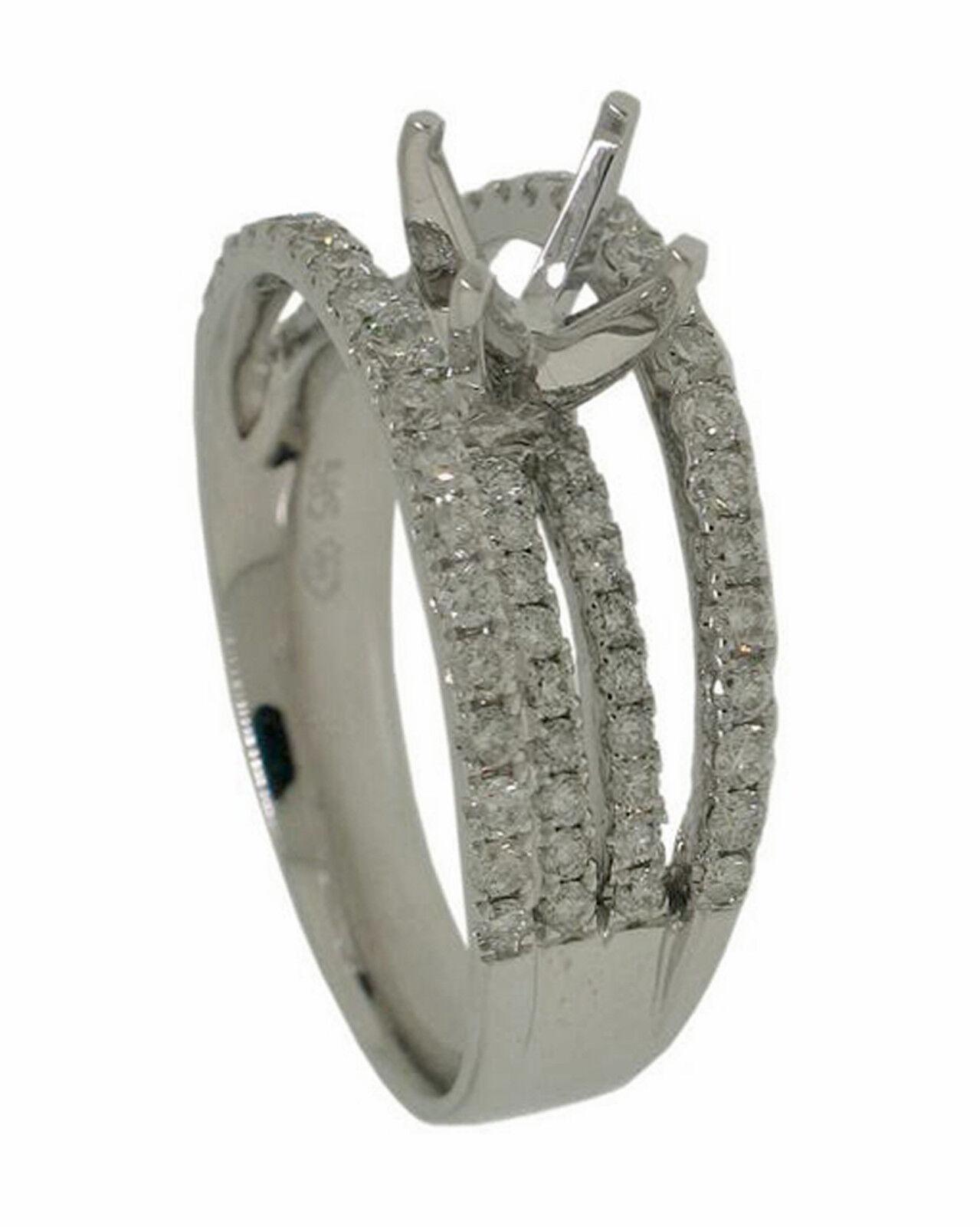 1.01ct Round Diamond 14k White gold Ring