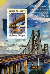 1964 Firth Of Forth Road Bridge (edinburgh Scotland) Stamp Sheet #2 (2014)-afficher Le Titre D'origine Utilisation Durable