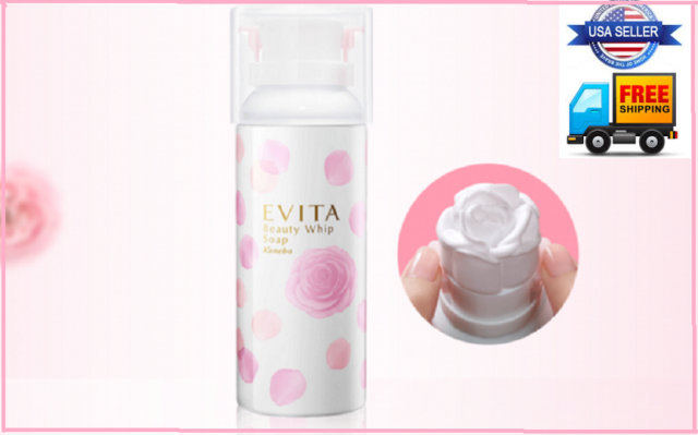 Evita Japan  Beauty Whip Soap Cleanser by Kanebo (Rose Foam) US Seller  New