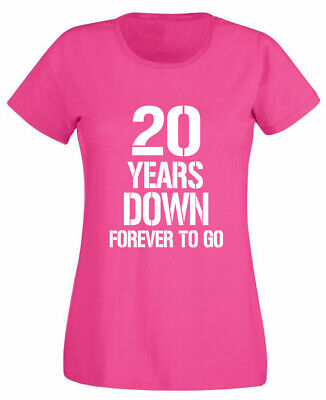 20 Years Down T-shirt, 20th Wedding Anniversary Gifts Present For Wife Her Women üBereinstimmung In Farbe