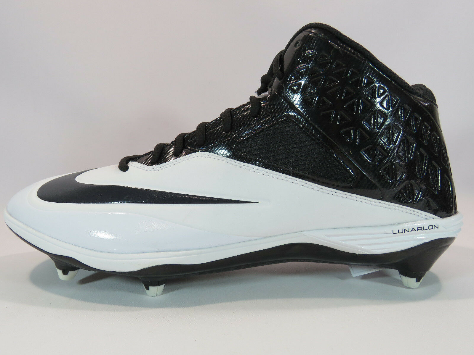Nike Men's Lunar Code Pro 3/4 D Football Cleats Black and White Comfortable best-selling model of the brand