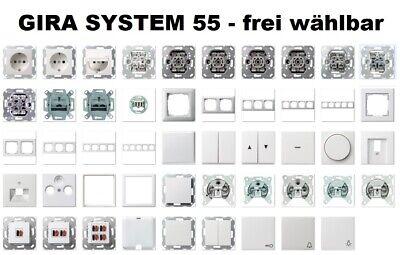 Gira Syst.55 Standard Rahmen 4-fach Reinweiss gl 021403