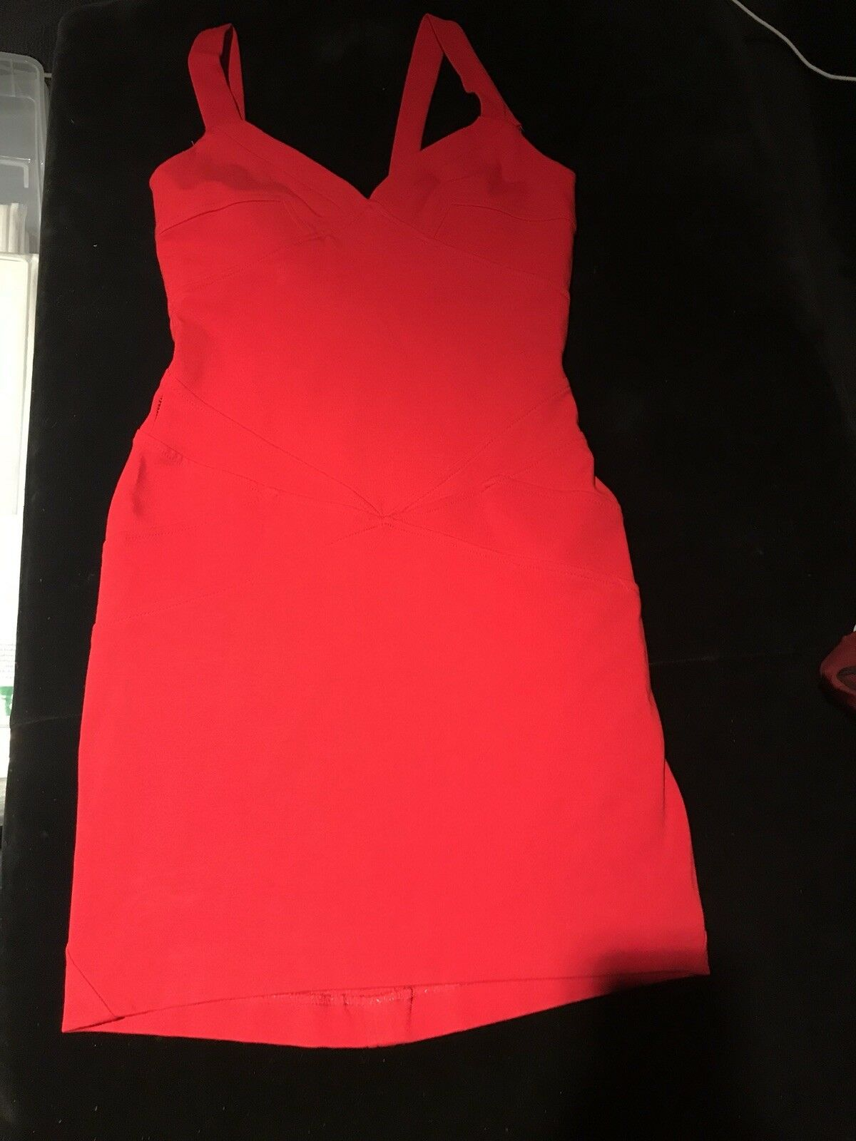 Diane Von Furstenberg Red Medium Length Dress Dress Dress sz 2 fab8bb