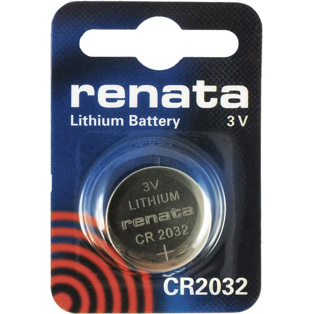 CR2032 Coin Cell Battery Pack Renata 3V for Watches Cameras Car Keys Torches