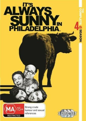 1 of 1 - It's Always Sunny In Philadelphia : Season 4 (DVD, 2011, 3-Disc Set), NEW REG 4