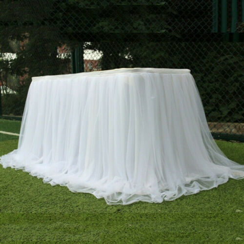 Tutu Tulle Table Skirt Tableware Table Cloth Cover Home Wedding//Party Decor GN