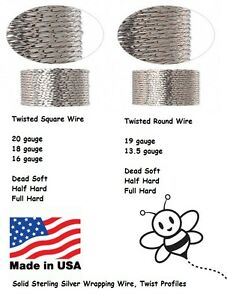 4 feet 20 Gauge Thick 925 Sterling Silver Wire Jewelry Wrapping Half Hard HH