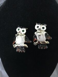 Vintage-Sweater-Pins-Owl-Scatter-Figural-Rockabilly-Collar-Scatter-Pins-c-1960s