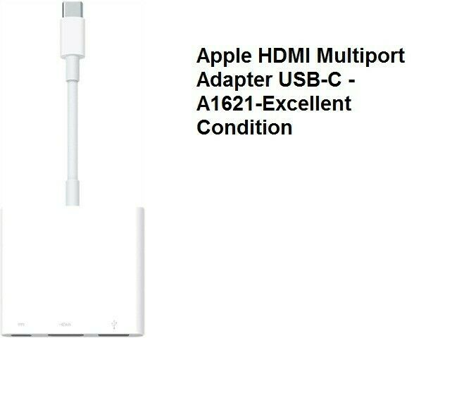 Apple USB-C HDMI Multiport Adaptor - A1621 - Mint - Excellent Condition