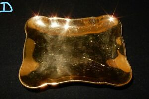 Royal-Winton-Golden-Age-Gold-Lustre-Square-Shaped-Trinket-Dish-D