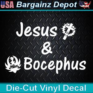 Vinyl Decal Jesus Amp Bocephus Laptop Car Hank