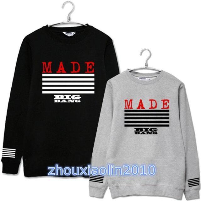 Kpop BIGBANG GD G-DRAGON TAEYANG SEUNGRI MADE SWEATER Cotton Unisex Sweatershirt