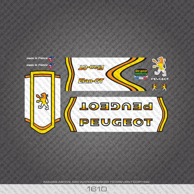 Decals Transfers 0387 Peugeot Vitesses 12 Speeds Bicycle Frame Stickers