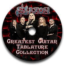 SAXON HEAVY METAL ROCK GUITAR schede tablature SONG BOOK Libreria software CD