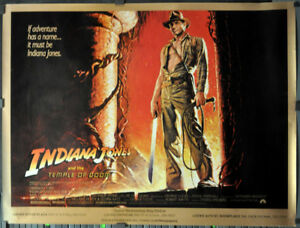 INDIANA-JONES-amp-THE-TEMPLE-OF-DOOM-039-84-SUBWAY-MOVIE-POSTER-45X60-HARRISON-FORD