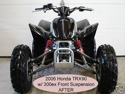 Honda Trx90 TRX 90 to 300ex Dual A-arms & Shocks Suspension ... on banshee indian, banshee motorcycle, banshee origins, banshee performance, banshee ghost, banshee wheelie, banshee movie 2008, banshee parts, banshee pipes, banshee drawings, banshee racing videos, banshee quad, banshee carbs, banshee halloween prop, banshee white n blue, banshee monster,