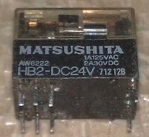 Relè HB2-DC24  RELAY Matsushita montaggio PCB 8 PIN bobina 24Vdc