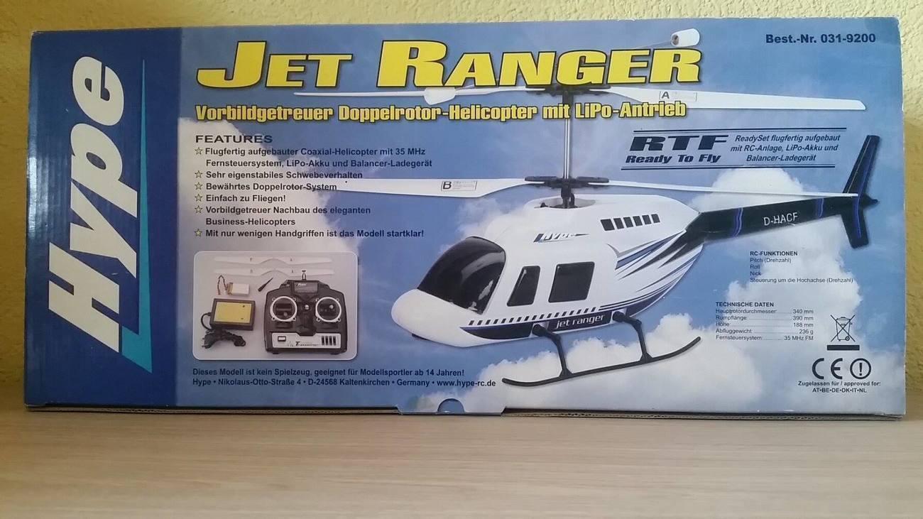 Jet Ranger coassiale RTF di Hype-Kyosho 031-9200 LiPo, RC,rtf - pronto per volar