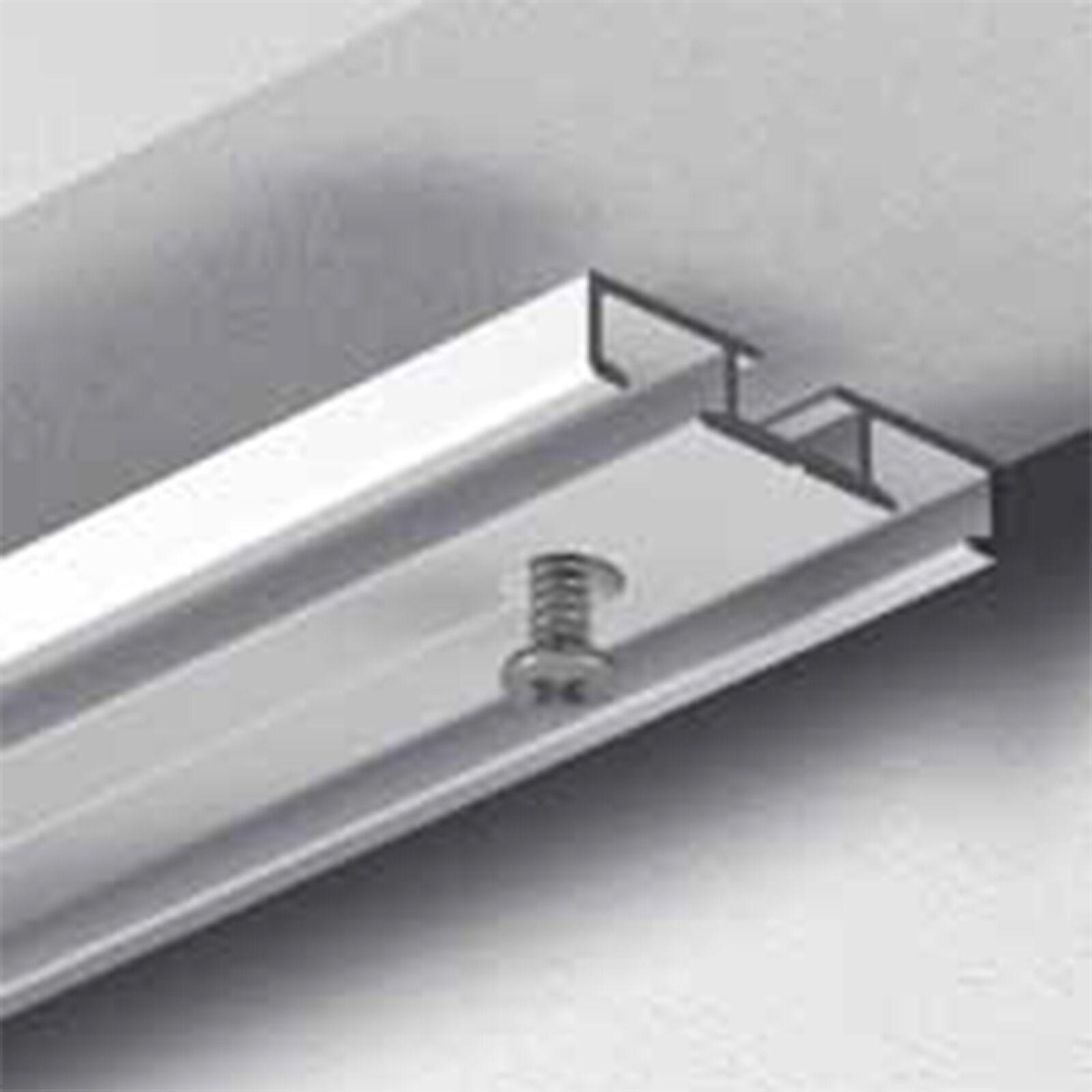 Top GARDINEUM Vorhangschiene 2-läufig Aluminium alu-silber vorgebohrt DU73