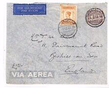 BF206 1935 DUTCH EAST INDIES Soerabaja GB Sussex Airmail Cover