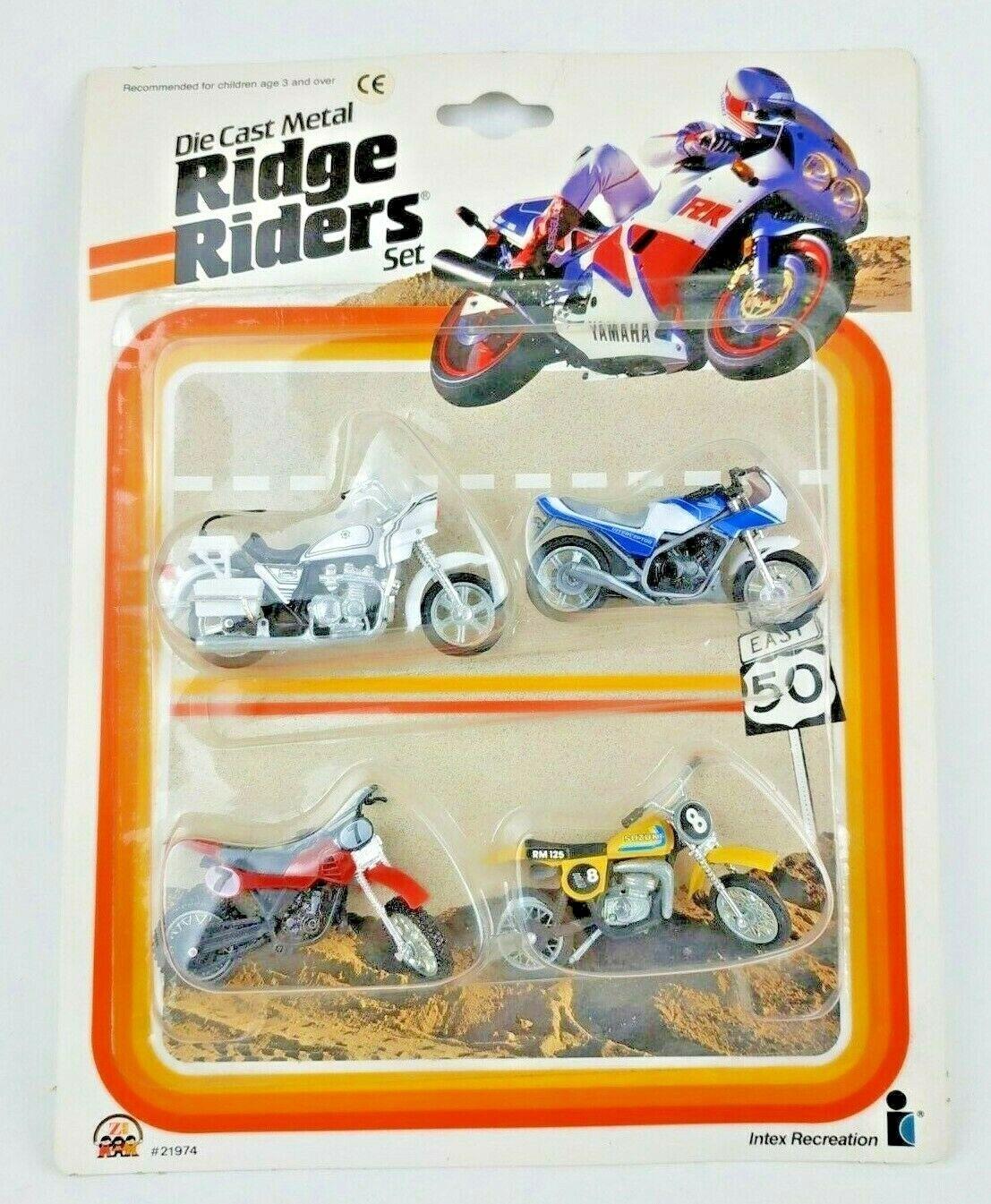 Rara Vintage 1990 Zylmex Zee pilotos Die Cast Metal Ridge Set Nuevo