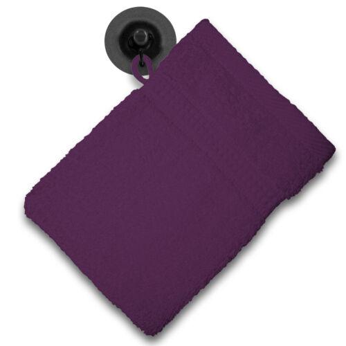 Waschhandschuh Waschlappen lila 16x21 cm Frottee 100/% Baumwolle Frottierware