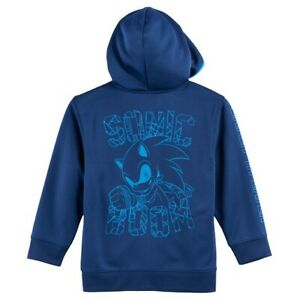 Sonic The Hedgehog Hoodie New Boys 5 6 Sonic Zoom Jacket Nwt Pockets Zip Up Usa 190371575792 Ebay