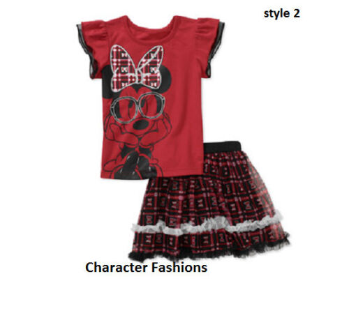 MINNIE MOUSE 12 18 24 Mo 2T 3T 4T 5T SHIRT TOP TEE SKIRT TUNIC Set Outfit DISNEY
