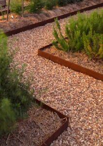 Image Is Loading Rustic Metal Garden Edging Corten Steel Pre Rusted