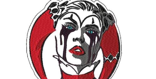 """4.8/"""" x 6.0/"""" Patch Iron On Harley Quinn Head Patch Craft"""