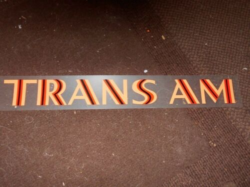 1973 1974 1975 1976 PONTIAC FIREBIRD TRANS-AM TRANS AM FENDER DECALS PAIR ORANGE