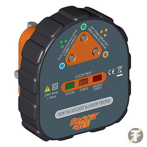 Socket /& voir sok34 socket facile et boucle de terre testeur