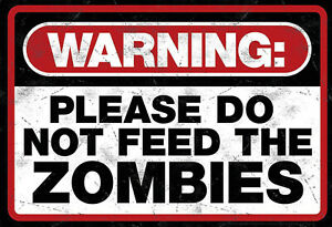 Warning-zombies-chapa-escudo-Escudo-jadeara-metal-Tin-sign-20-x-30-cm-fa0347