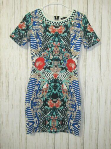 Jealous Tomato Kaleidoscope Print Bodycon Dress S… - image 1