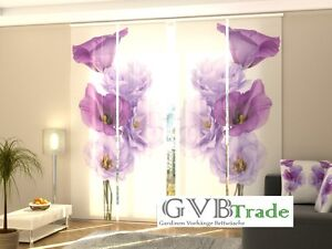 Curtains, Drapes & Valances Fotogardinen Blumen Schiebevorhang Schiebegardinen Vorhang Gardinen 3d Auf Maß